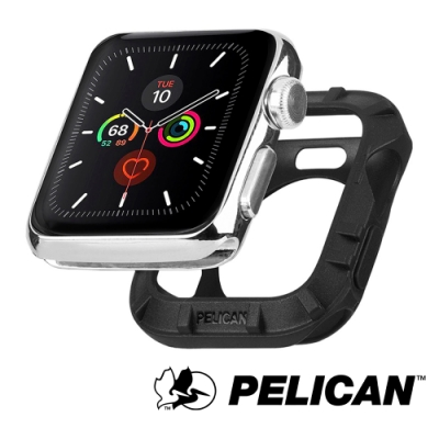 美國 Pelican 派力肯 Apple Watch 42-44mm 1-5代 Protector 保護者保護殼- 黑色