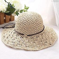 米蘭精品 草帽防曬遮陽帽-戶外時尚大帽簷優雅女帽子母親節禮物73rp32