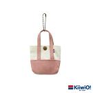 Kiiwi O! 經典造型迷你托特收納包 APRIL 粉/白