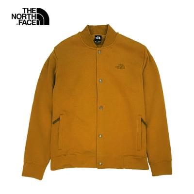 The North Face北面男款棕色棒球領保暖外套|4NB9VC7