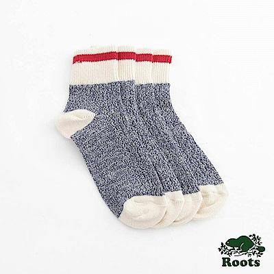 Roots-配件- 經典CABIN踝襪 (女)-藍