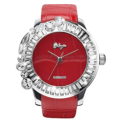 Galtiscopio迦堤  Joli Simple 祖利系列手錶-紅/50mm