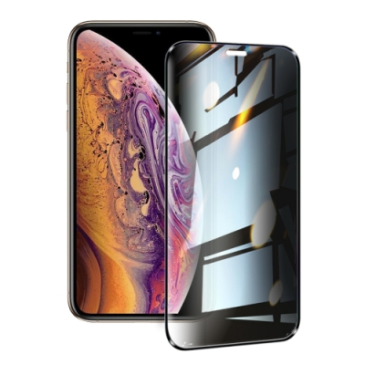 NISDA for iPhone XS Max / iPhone 11 Pro Max 防窺2.5D滿版玻璃保護貼-黑