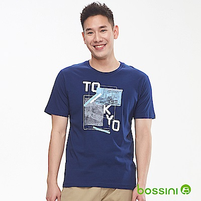 bossini男裝-印花短袖T恤05海軍藍