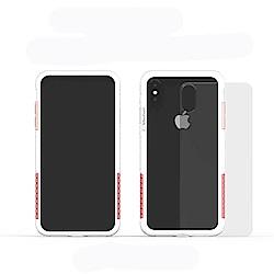 Telephant太樂芬 NMD iPhone X/XS  白-配玫瑰(附背蓋)
