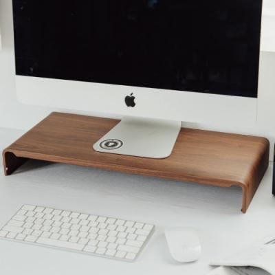 完美主義 新一代LCD木紋質感螢幕架/桌上架(2色)