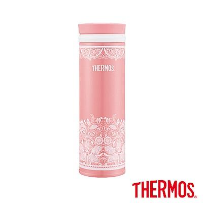 THERMOS膳魔師不鏽鋼真空保溫杯0.5L(JNO-500)-WR(優雅蕾絲)