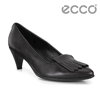 ECCO SHAPE 45 POINTY SLEEK流蘇尖頭正裝高跟鞋 女-黑