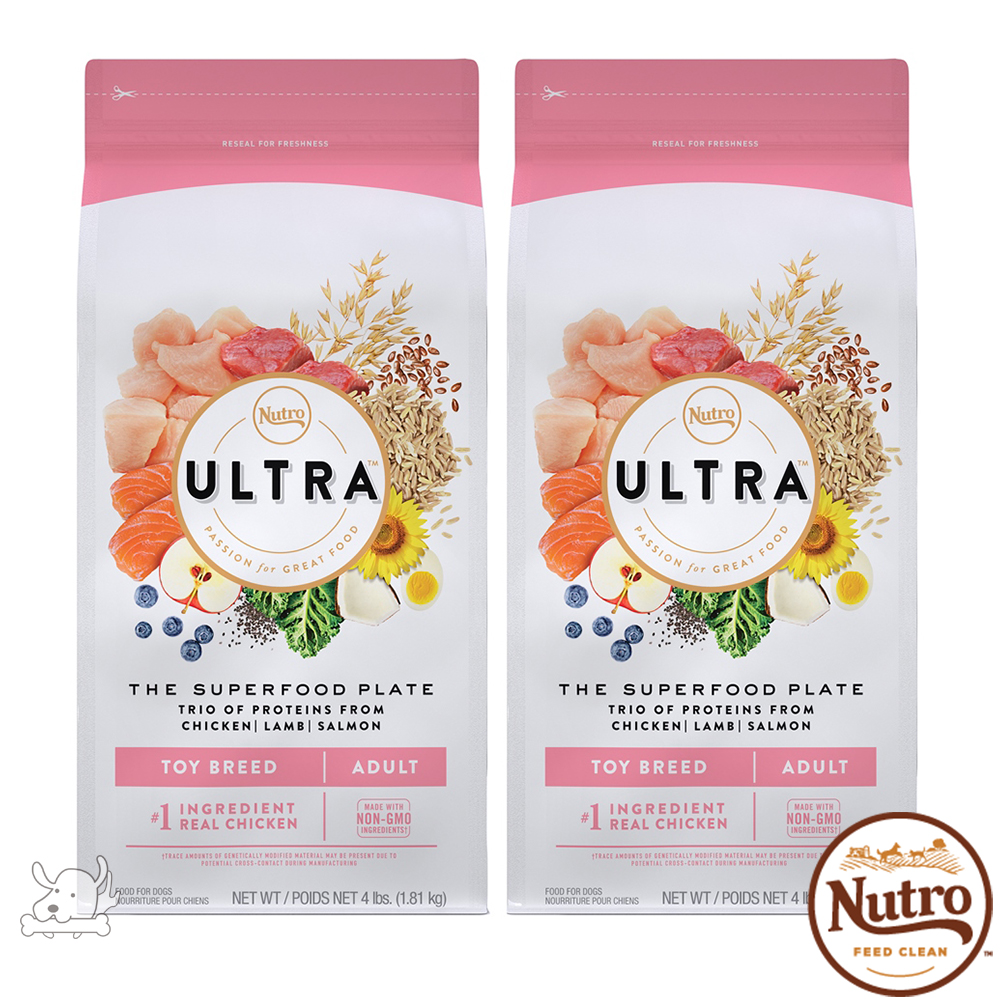 【Nutro 美士】ULTRA 大地極品 迷你犬成犬優質配方 4磅 2包組