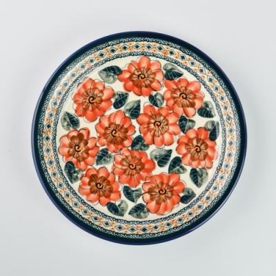 波蘭陶 艷夏扶桑系列 圓形餐盤 25cm 波蘭手工製