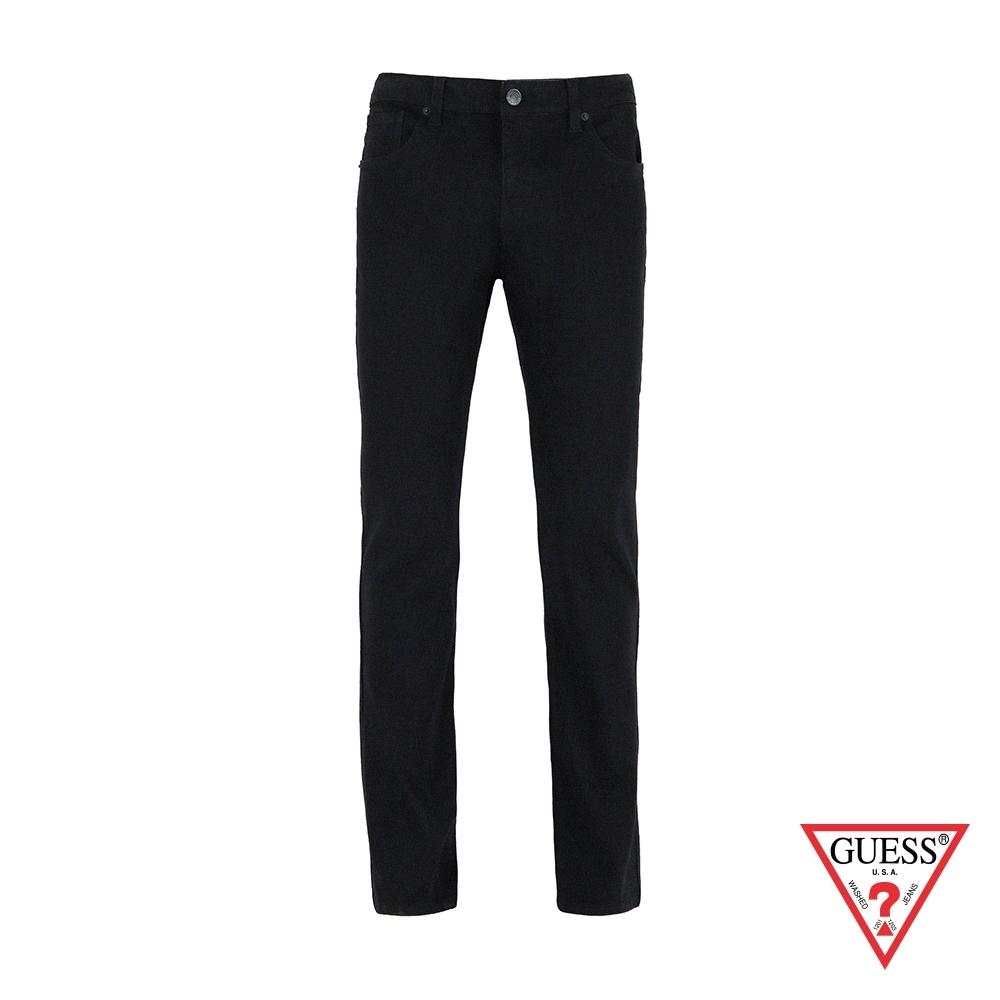 GUESS-男裝-經典純色修身直筒牛仔褲-黑 原價3990