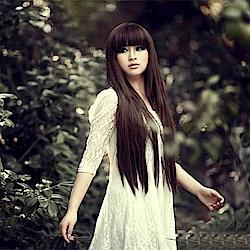 米蘭精品 女假髮整頂長假髮-氣質可愛齊瀏海長直髮女美髮用品3色69o52