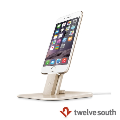 Twelve South HiRise Deluxe iPhone 充電立架 - 金色