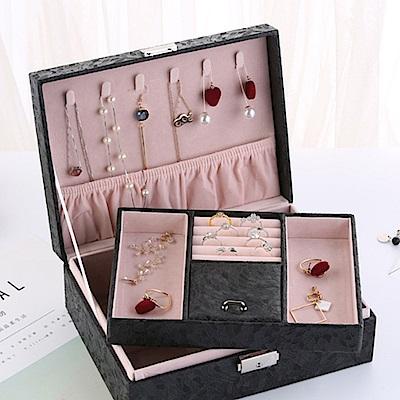 梨花HaNA 歐式緹花珠寶的家首飾盒珠寶盒收納
