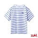X-girl STRIPED PIQUE S/S TOP短袖條紋T恤-白/藍 product thumbnail 1
