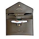 PLEPIC 啟程吧皮革護照包-法式棕