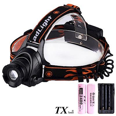 TX特林XML-T6LED黃光伸縮變焦強亮頭燈(HD-T6-YW)