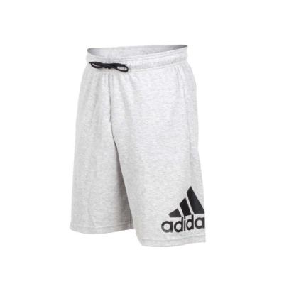adidas 男運動短褲-五分褲 慢跑 路跑 愛迪達 灰黑