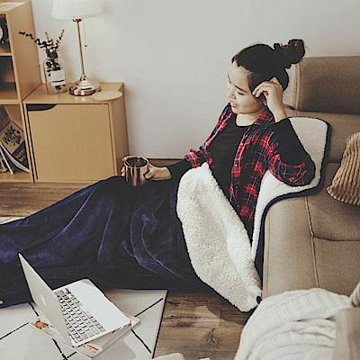 絲薇諾 黛藍 加厚版法蘭羊羔絨睡袋毯(1.64kg)