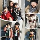 小衣衫童裝 秋冬款親子款仿羊絨格紋圍巾1061226