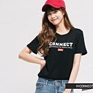 H:CONNECT 韓國品牌 女裝 -品牌印字圓領T-shirt -黑