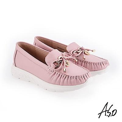 A.S.O 3D超動能 俏皮活力飾釦休閒鞋 粉紅