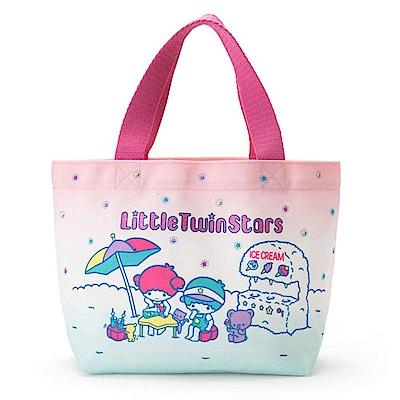 Sanrio SANRIO明星夏日假期系列布面迷你提袋(雙星仙子)
