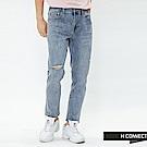 H:CONNECT 韓國品牌 男裝-微彈割破牛仔褲-藍