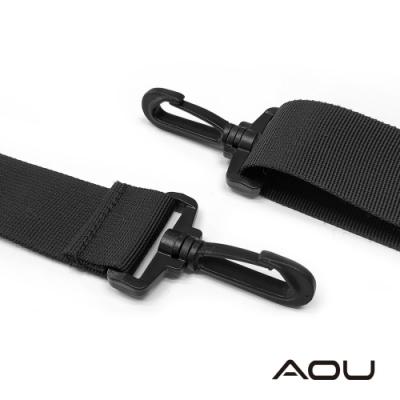 AOU 輕量活動式強化耐重背帶 側背帶 公事包背帶 尼龍背帶(黑色)03-007D7