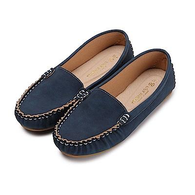 BuyGlasses 輕柔好感莫卡辛休閒鞋-藍