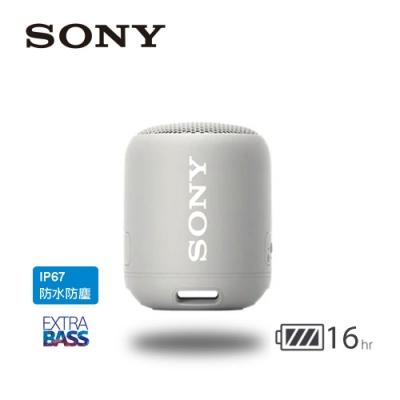 SONY 可攜式無線藍牙喇叭 SRS-XB12 灰色
