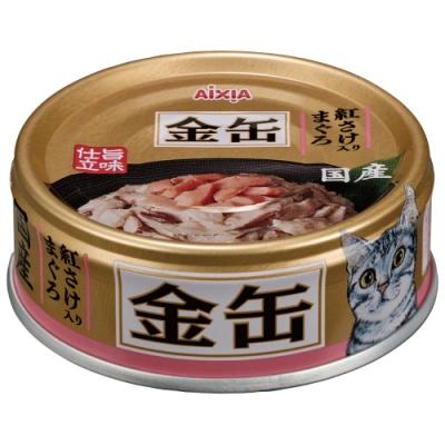 Aixia 愛喜雅-愛喜雅金缶33號鮪魚+鮭魚口味(70gX24罐))
