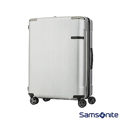 Samsonite新秀麗 30吋 Evoa 拉絲光澤防盜拉鍊抗震輪TSA硬殼行李箱(銀)