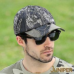 JUNIPER 抗UV個性迷彩拼接復古超大尺寸頭圍運動帽
