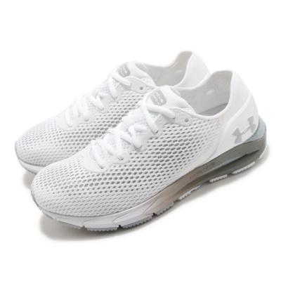 UA 慢跑鞋 HOVR Sonic 4 運動 女鞋 輕量 透氣 舒適 避震 路跑 健身 白 灰 3023559101