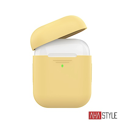 AHAStyle AirPods 1&2代矽膠保護套-黃色 1.4mm超薄款