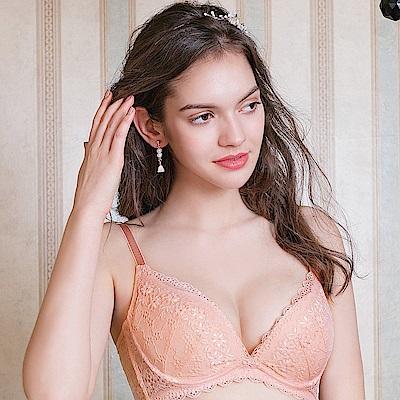 EASY SHOP-柔情蔓戀 美背款A-E罩成套內衣(粉膚橘)