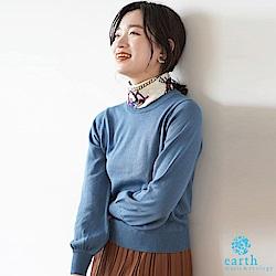 earth music 【SET ITEM】圖騰領巾+素面針織衫