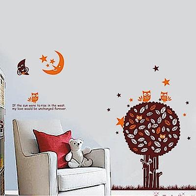 半島良品 DIY無痕壁貼-月光樹 AY851 60x90cm