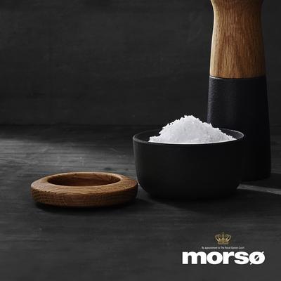 丹麥Morsø 皇家黑爵士橡木蓋鑄鐵鹽罐