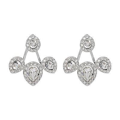 SWAROVSKI 施華洛世奇 璀璨水滴花樣水晶造型銀色耳環