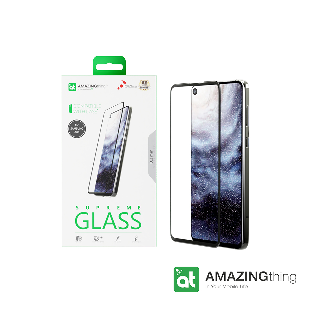 AmazingThing 三星 A8S 滿版強化玻璃保護貼