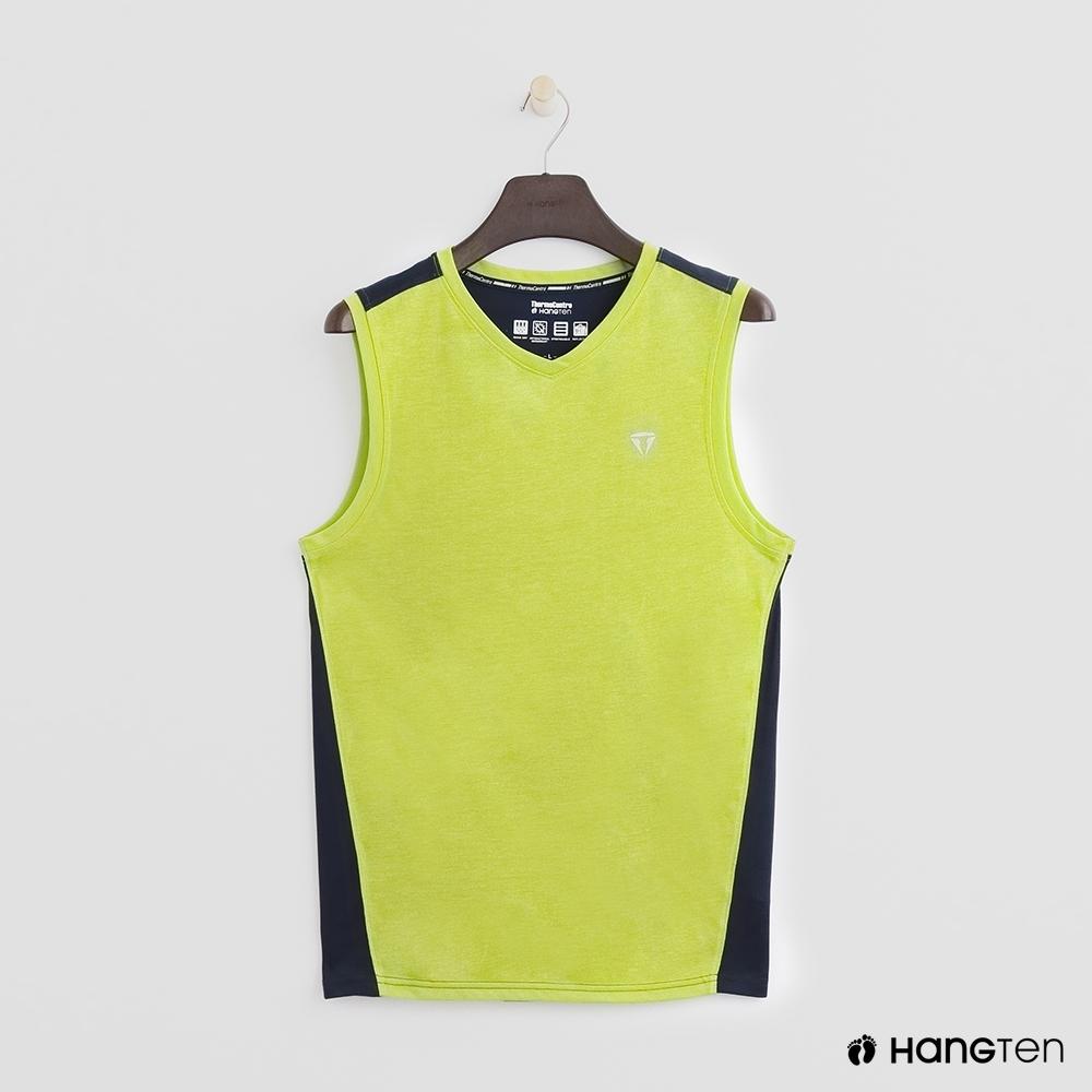 Hang Ten - ThermoContro-撞色拼接造型背心 - 綠