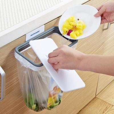 【Cap】小強救星廚房帶蓋垃圾袋掛架