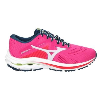 MIZUNO WAVE INSPIRE 17 WIDE 女慢跑鞋-美津濃 J1GD214633 桃紅綠