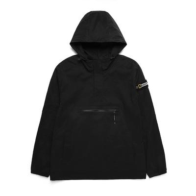 NATIONAL GEOGRAPHIC 男 Dimer Woven Training Jacket 連帽上衣 炭黑-N211MFT040198