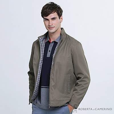 ROBERTA諾貝達 商務型男 內裡鋪棉 簡約夾克外套  棕褐