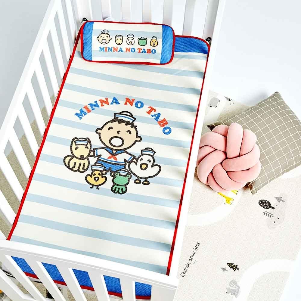 【les enphants】麗嬰房 夏日水手服大寶小寶貝專用冰絲涼蓆/枕特惠組