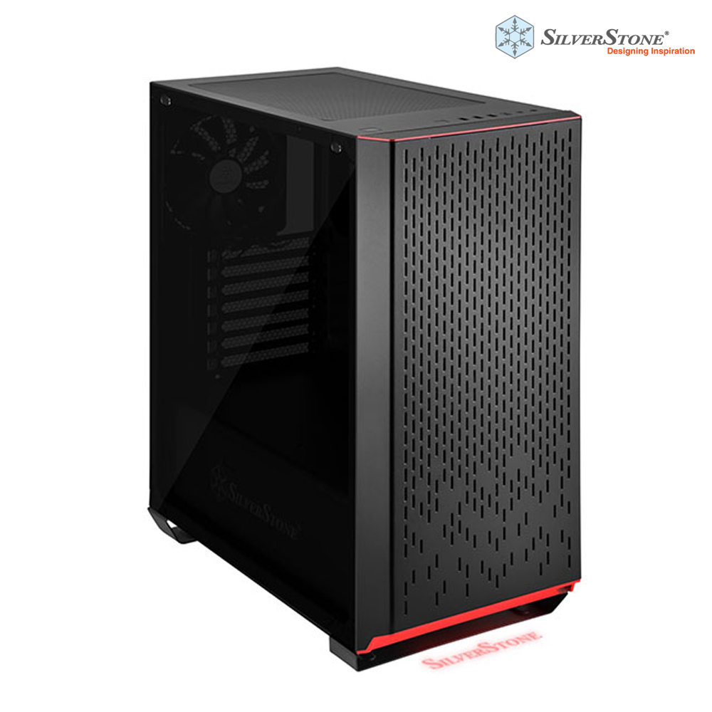 銀欣 SilverStone 鋒馳系列 PM02B-G 黑色電腦機殼