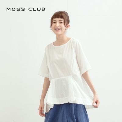 【MOSS CLUB】日系剪裁簡約短袖-襯衫(三色)